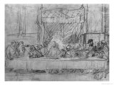The Last Supper, after the Fresco by Leonardo Da Vinci circa 1635 Premium Giclee Print by  Rembrandt van Rijn