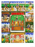 Vishnu in the Centre of His Ten Avatars, Jaipur, Rajasthan Giclee Print