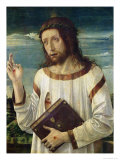 Christ Blessing Giclee Print by Giovanni Bellini