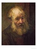 Head of an Old Man, circa 1650 Giclee Print by  Rembrandt van Rijn