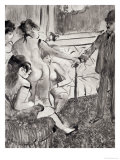 "Illustration from ""La Maison Tellier"" by Guy de Maupassant  1933 Giclee Print by Edgar Degas"