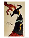 Jane Avril 1899 Gicléedruk van Henri de Toulouse-Lautrec