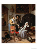 Physician's Visit, circa 1663-65 Giclee Print by Jan Havicksz. Steen