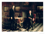 Peter I with His Son Giclee Print by Nikolai Nikolaevich Ge