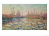 The Thaw on the Seine, Near Vetheuil, 1880 Giclee Print by Claude Monet