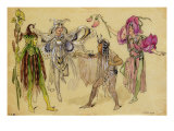 "Four Fairy Costumes for ""A Midsummer Night's Dream"", Manchester, 1896-1903 Giclee Print by C. Wilhelm"