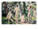 Study of Bathers, circa 1895-98 Giclee Print by Paul Cézanne