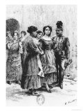 Scene from &quot;Carmen&quot; by Prosper Merimee Illustrated by Eugene Decisy Gicl&#233;e-Druck von Gaston Vuillier