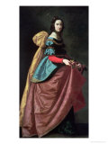 St. Elizabeth of Portugal 1640 Giclee Print by Francisco de Zurbar&#225;n
