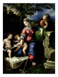 The Holy Family of the Oak Tree, circa 1518 Lámina giclée por Raphael