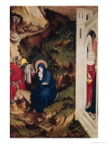 Altarpiece of the Chartreuse de Champmol, Right Hand Side Depicting the Flight into Egypt Giclee Print by Melchoir Broederlam