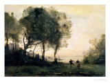 Souvenir of Italy Giclee Print by Jean-Baptiste-Camille Corot