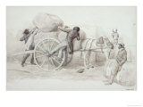 Negroes Loading Cotton Bales at Charleston Giclee Print by Randolph Caldecott