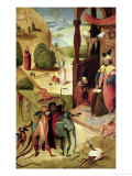 St.James and the Magician Premium Giclee Print by Hieronymus Bosch