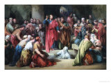 The Raising of Lazarus Giclée-Druck von George Cattermole