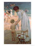 The Bathing Hour Premium Giclee Print by Emmanuel Phillips Fox