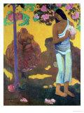 Te Avae No Maria 1899 Premium Giclee Print by Paul Gauguin