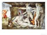 Sistine Chapel Ceiling: Drunkenness of Noah Giclee Print by Michelangelo Buonarroti 