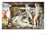 Sistine Chapel Ceiling: Drunkenness of Noah Giclee Print by  Michelangelo Buonarroti