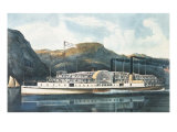 """The Hudson River Steamboat """"St. John"""" Giclee Print by  Currier & Ives"""