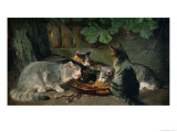Dinner Time Giclee Print by Julius Adam