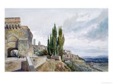 The Ruins of the Roman Theatre at San Gimignano Giclee Print by John Fulleylove