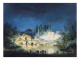 Illumination of the Belvedere at the Petit-Trianon, 1781 Giclee Print by Claude Louis Chatelet
