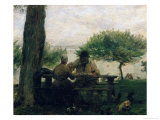 The Meal at Honfleur, 1875 Giclee Print by Adolphe-felix Cals