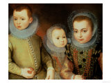 Portrait of Three Tudor Children Reproduction proc&#233;d&#233; gicl&#233;e par F.f. 