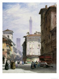 Leaning Tower, Bologna Giclee Print by William Callow