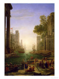 Embarkation of St. Paul at Ostia Premium Giclee Print by Claude Lorrain