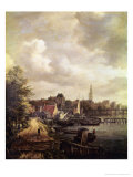 View of Amsterdam Giclee Print by Jacob Isaaksz. Or Isaacksz. Van Ruisdael