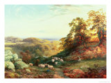 Watching the Flock Giclee Print by George Vicat Cole