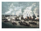 Bombardment and Capture of Island No.10 on the Mississippi River, 7th April 1862 Giclee Print by  Currier & Ives