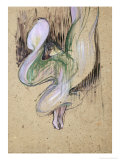 Study for Loie Fuller at the Folies Bergeres, 1893 Lmina gicle por Henri de Toulouse-Lautrec