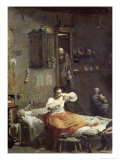 The Woman with the Flea Giclee Print by Giuseppe Maria Crespi