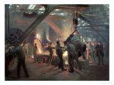 Biermeister and Wain Steel Forge, 1885 Premium Giclee Print by Peder Severin Kröyer