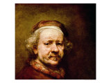 Self Portrait in at the Age of 63, 1669 Giclee Print by  Rembrandt van Rijn