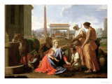 The Rest on the Flight into Egypt Giclee Print by Nicolas Poussin