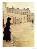 Waiting, Rue de Chateaubriand, Paris Giclee Print by Jean B&#233;raud