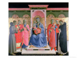 Detail from the Annalena Altarpiece Showing the Virgin and Child with St. Peter the Martyr Giclee Print by  Fra Angelico