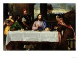 The Supper at Emmaus, circa 1535 Giclee Print by Titian (Tiziano Vecelli)