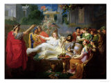 The Sword of Damocles Premium Giclee Print by Felix Auvray