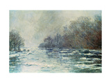 The Break up at Vetheuil, circa 1883 Premium Giclee Print by Claude Monet