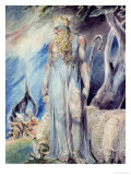 Moses and the Burning Bush Giclee Print by William Blake
