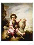 The Good Shepherd, circa 1650 Giclee Print by Bartolome Esteban Murillo