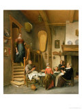 A Family Saying Grace Giclee Print by Jan Havicksz. Steen