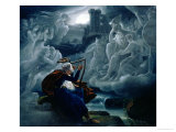 Ossian Conjures up the Spirits on the Banks of the River Lorca Giclee Print by Karoly Kisfaludy