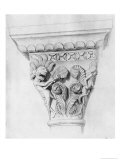 Capital Illustrating the Vice of Despair, Abbey Church of La Madeleine, Vezelay, France Giclee Print by Eugène Viollet-le-Duc