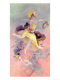 Dancer with a Basque Tambourine Giclee Print by Jules Chéret